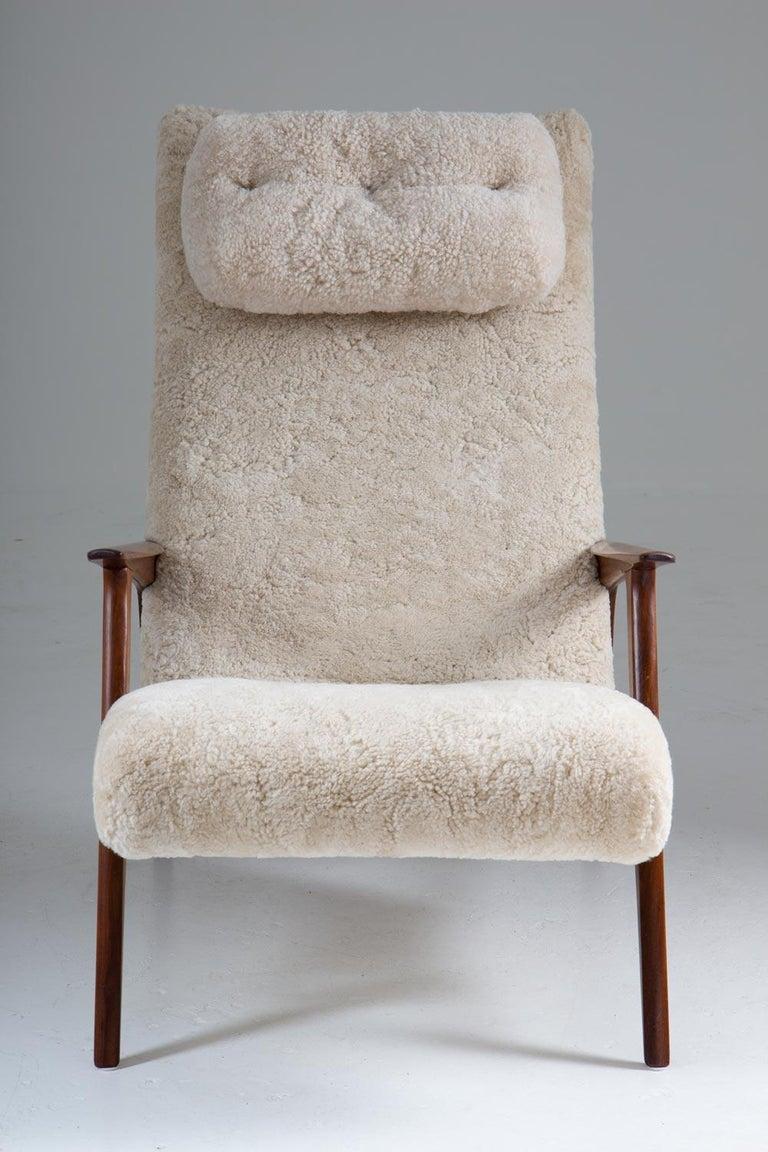 Swedish Scandinavian Mid Century Lounge Chair by Jio Möbler For Sale