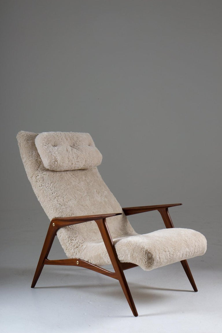 Scandinavian Mid Century Lounge Chair by Jio Möbler In Good Condition For Sale In Karlstad, SE