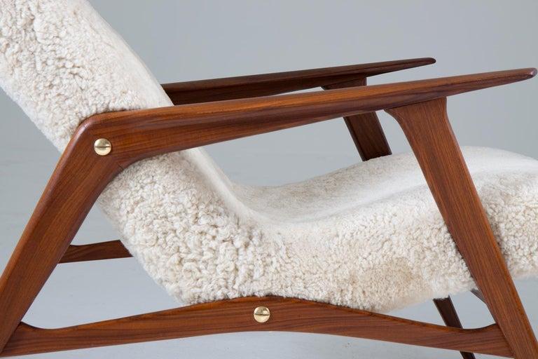 20th Century Scandinavian Mid Century Lounge Chair by Jio Möbler For Sale