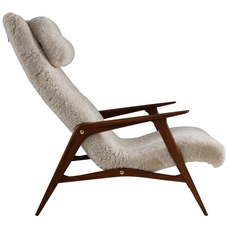 Scandinavian Mid Century Lounge Chair by Jio Möbler For Sale