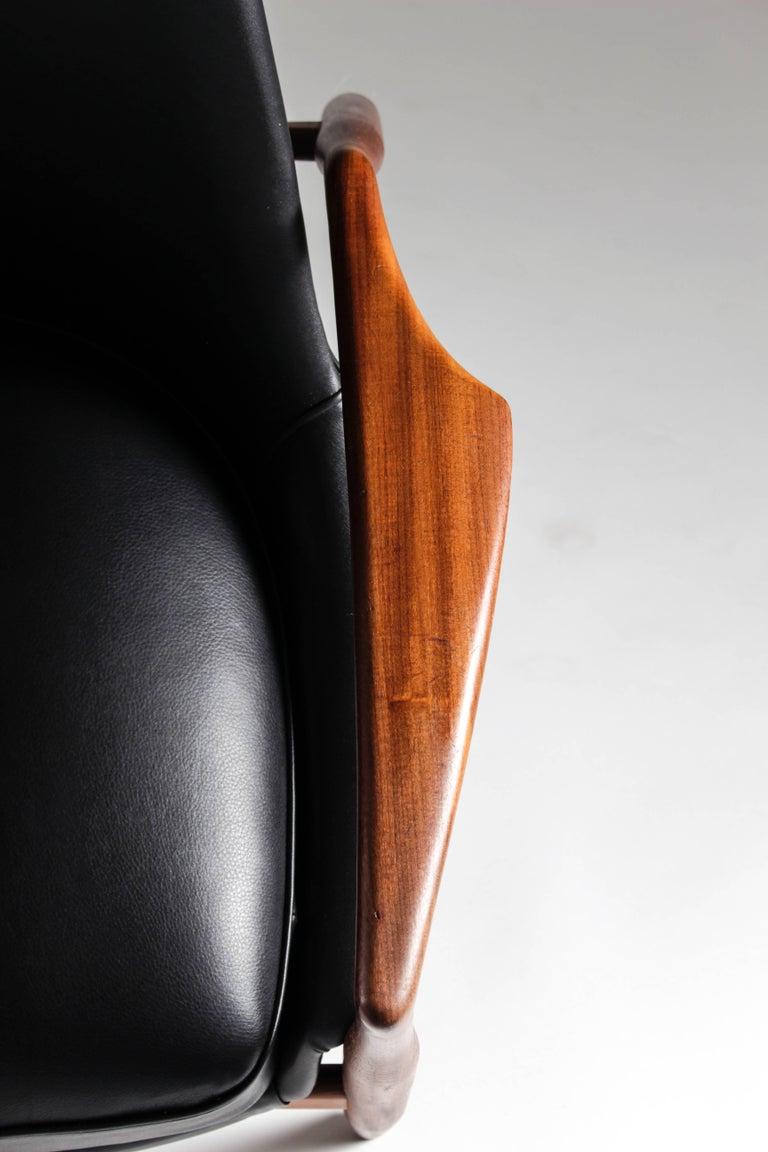 Leather Scandinavian Midcentury Lounge Chair