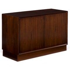 Scandinavian Mid-Century Modern Rosewood Low Cabinet, circa 1970s