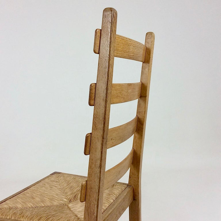 Scandinavian Midcentury Oak chairs, circa 1950 For Sale 5