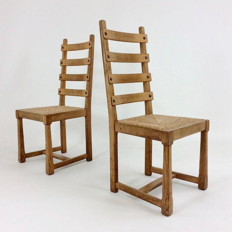 Scandinavian Modern Scandinavian Midcentury Oak chairs, circa 1950 For Sale