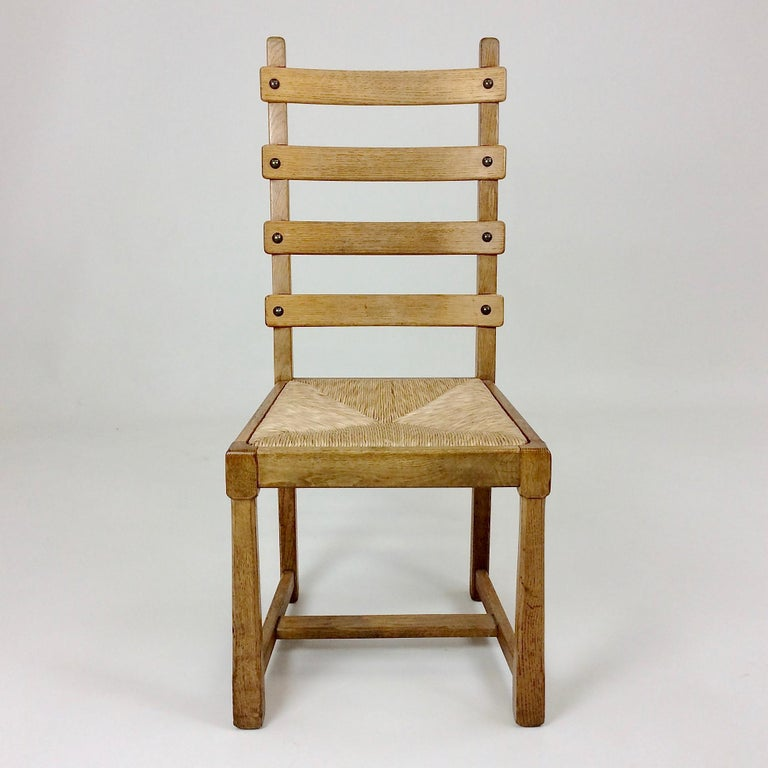 Scandinavian Midcentury Oak chairs, circa 1950 In Good Condition For Sale In Brussels, BE