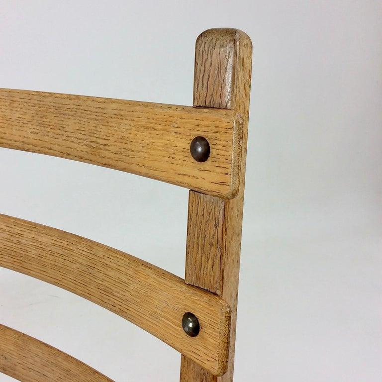 Scandinavian Midcentury Oak chairs, circa 1950 For Sale 1
