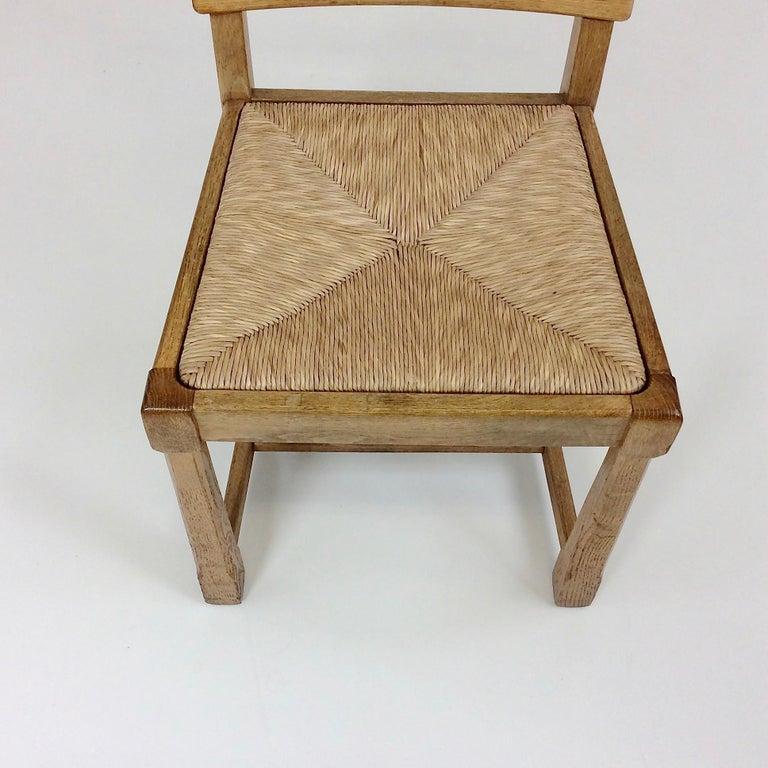 Scandinavian Midcentury Oak chairs, circa 1950 For Sale 3