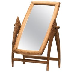 Scandinavian Mid-Century Pine Table Mirror, Scandinavia, 1940s