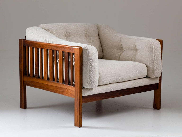 Swedish Scandinavian Midcentury Rosewood Lounge Chairs