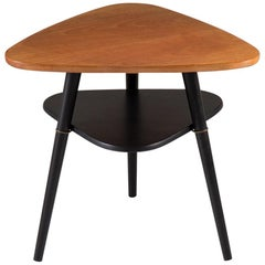 "Scandinavian Midcentury Side Table ""Telma"" in Teak by Nils Jonsson"