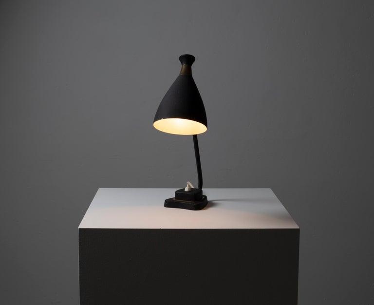 Scandinavian Midcentury Table Lamp, 1950s For Sale 1