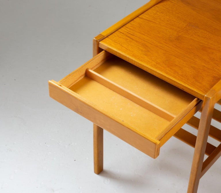 Scandinavian Midcentury Bedside Tables by Bertil Fridhagen for Bodafors, 1960s In Good Condition For Sale In Karlstad, SE