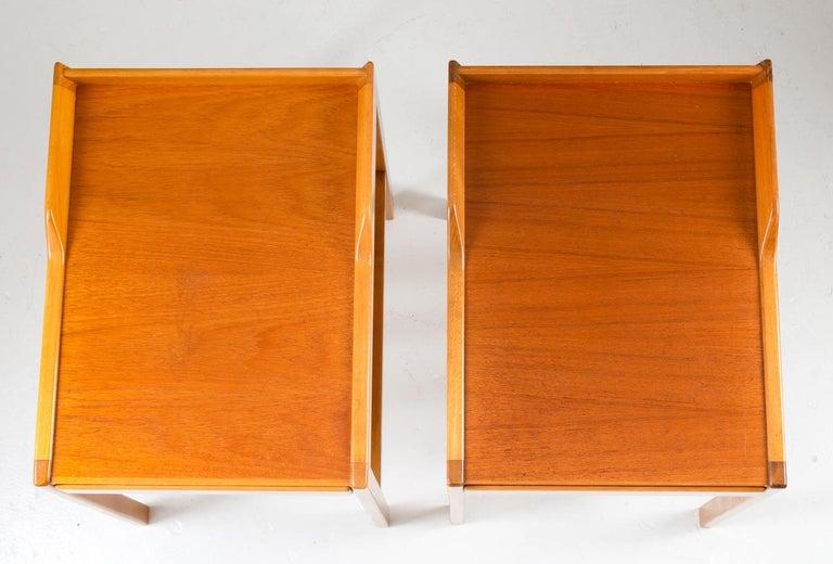 20th Century Scandinavian Midcentury Bedside Tables by Bertil Fridhagen for Bodafors, 1960s For Sale