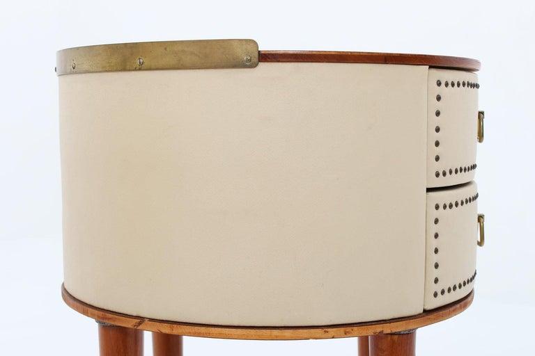 Scandinavian Midcentury Bedside Tables by Halvdan Pettersson, 1940s For Sale 3