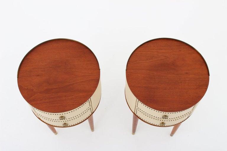 Swedish Scandinavian Midcentury Bedside Tables by Halvdan Pettersson, 1940s For Sale