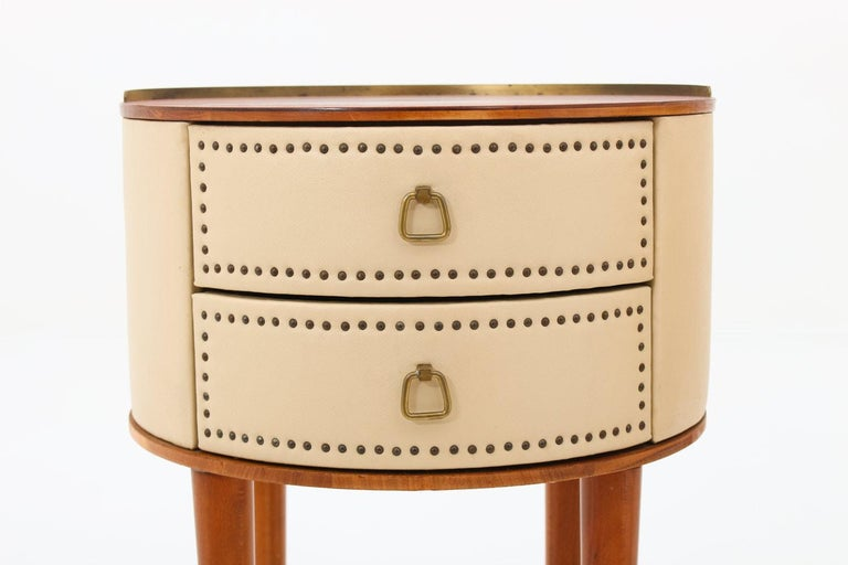 Scandinavian Midcentury Bedside Tables by Halvdan Pettersson, 1940s In Good Condition For Sale In Karlstad, SE