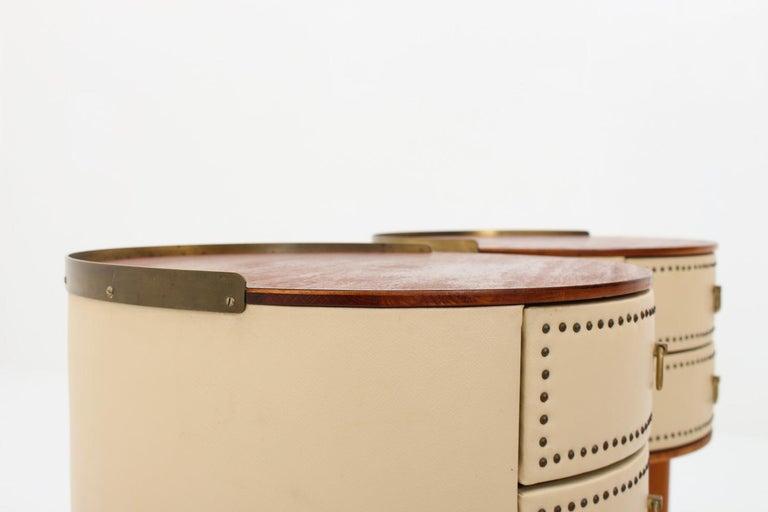 Scandinavian Midcentury Bedside Tables by Halvdan Pettersson, 1940s For Sale 1
