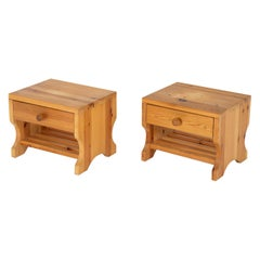 Scandinavian Midcentury Bedside Tables in Pine