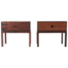 Scandinavian Midcentury Bedside Tables in Rosewood by Kai Kristiansen, 1960s