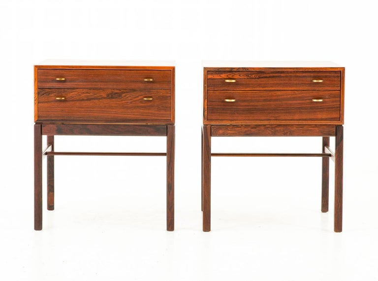 Scandinavian Modern Scandinavian Midcentury Bedside Tables in Rosewood, Model Casino, 1960s For Sale