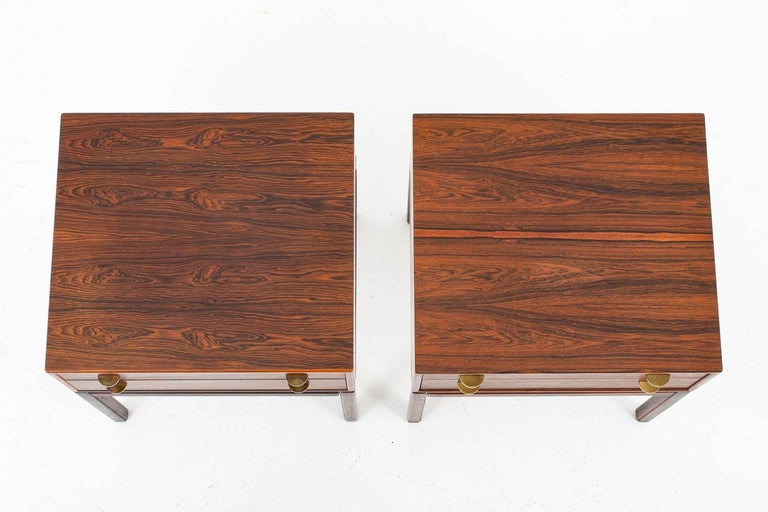 Scandinavian Midcentury Bedside Tables in Rosewood, Model Casino, 1960s In Good Condition For Sale In Karlstad, SE