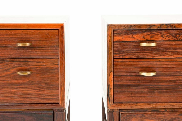 20th Century Scandinavian Midcentury Bedside Tables in Rosewood, Model Casino, 1960s For Sale