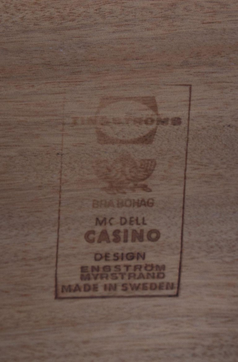 Scandinavian Midcentury Bedside Tables in Rosewood, Model Casino, 1960s For Sale 1