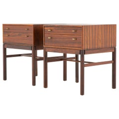 Scandinavian Midcentury Bedside Tables in Rosewood, Model Casino, 1960s