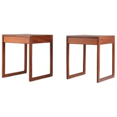 Scandinavian Midcentury Bedside Tables in Teak, 1960s