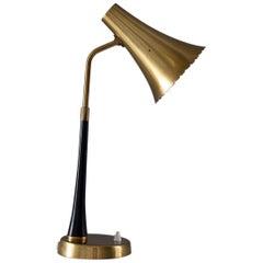 Scandinavian Midcentury Desk Lamp in Brass by ASEA