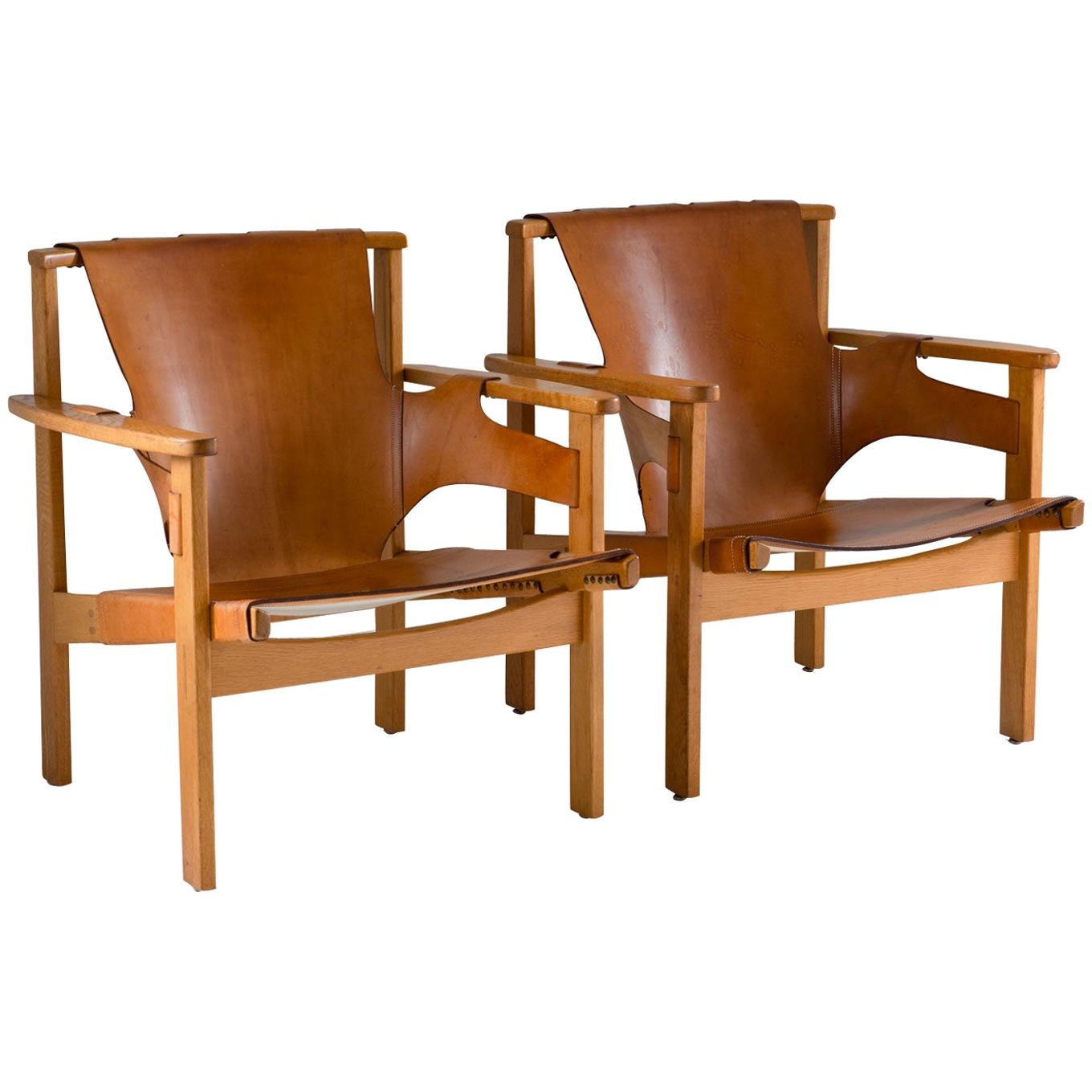 """Scandinavian Midcentury Easy Chairs """"Trienna"""" by Carl-Axel Acking for NK"""