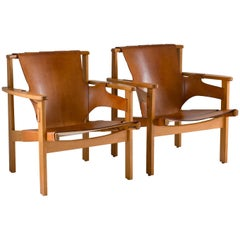 "Scandinavian Midcentury Easy Chairs ""Trienna"" by Carl-Axel Acking for NK"