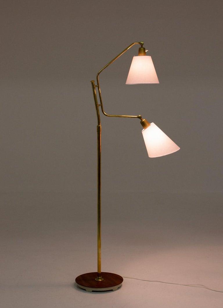 Swedish Scandinavian Midcentury Floor Lamp by Bertil Brisborg for NK For Sale