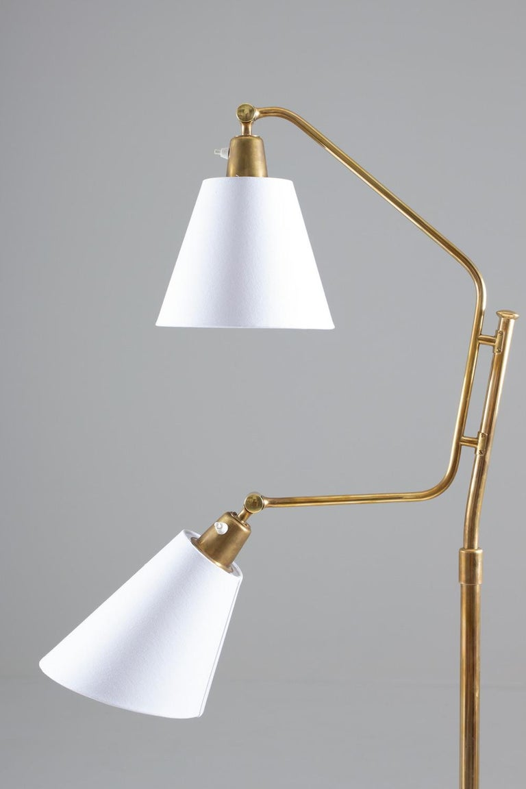 Scandinavian Midcentury Floor Lamp by Bertil Brisborg for NK In Good Condition For Sale In Karlstad, SE