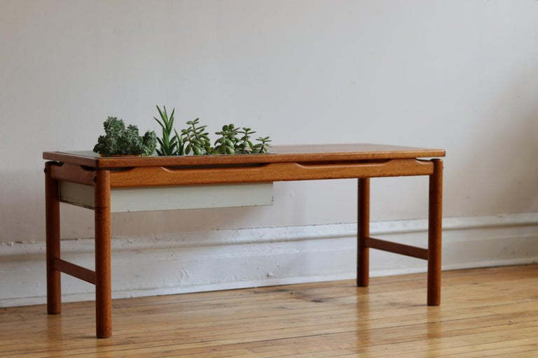 Scandinavian Modern Scandinavian Midcentury HMB Planter and Coffee Table For Sale