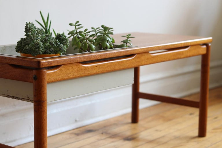 Danish Scandinavian Midcentury HMB Planter and Coffee Table For Sale