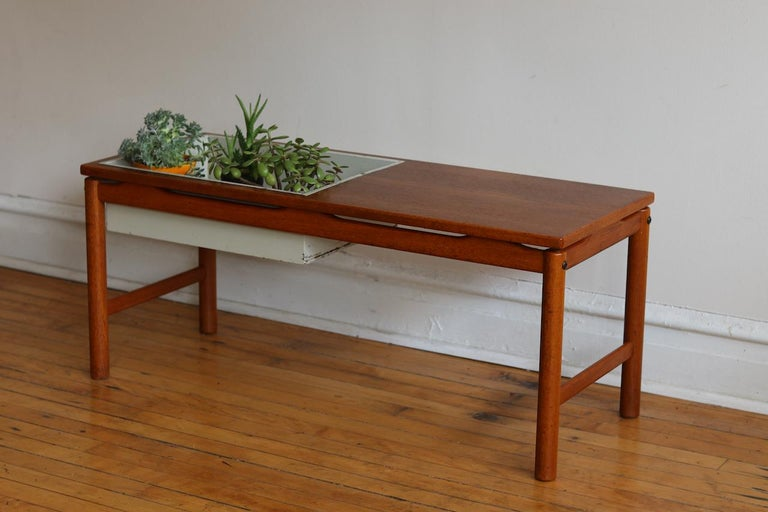 Scandinavian Midcentury HMB Planter and Coffee Table In Good Condition For Sale In Brooklyn, NY