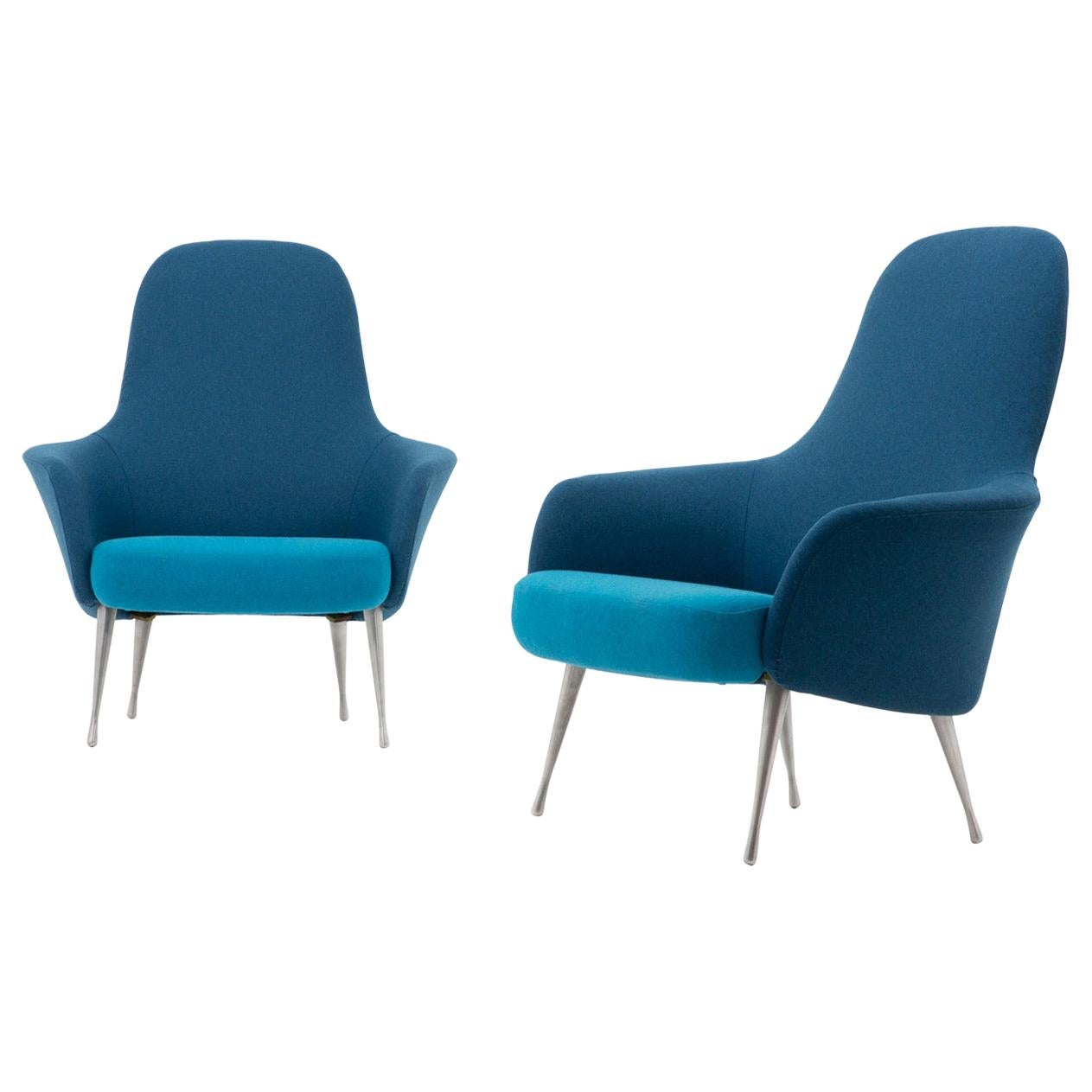 Scandinavian Midcentury Lounge Chairs by Alf Svensson for DUX, 1960s