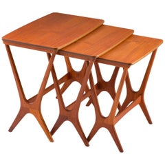 Scandinavian Midcentury Nesting Tables by Erling Torvits for HM
