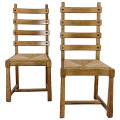 Scandinavian Midcentury Oak chairs, circa 1950