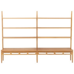 Scandinavian Midcentury Shelving Unit in Oak by William Watting