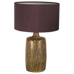 Scandinavian Midcentury Swedish Gunnar Nylund earth brown Ceramic Purple Shade