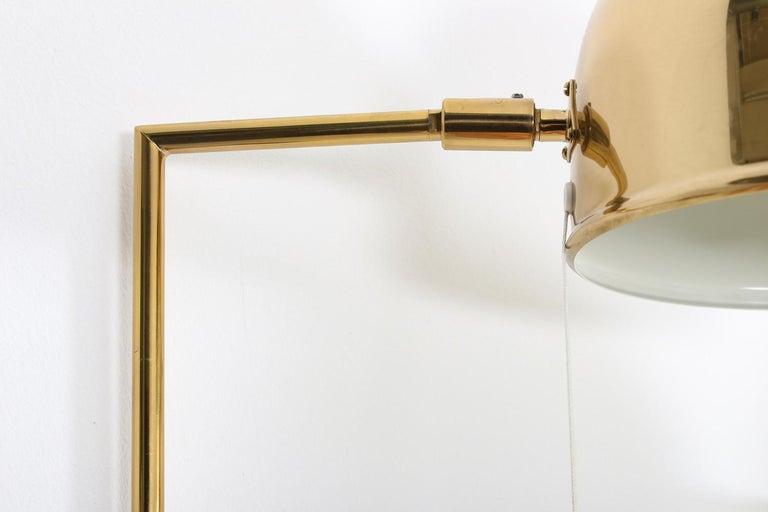 20th Century Scandinavian Midcentury Wall Lamps in Brass by Bergboms, Sweden For Sale