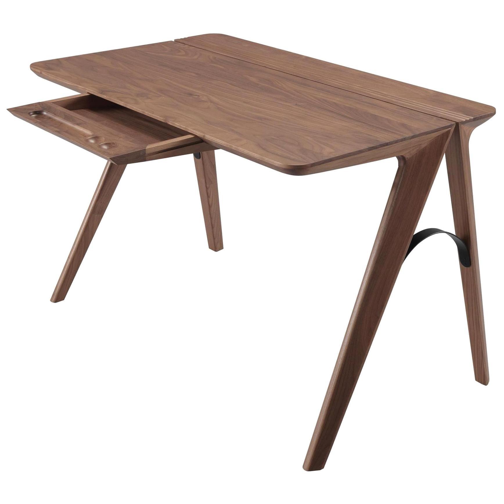 Scandinavian Minimalist Style Wood Desk