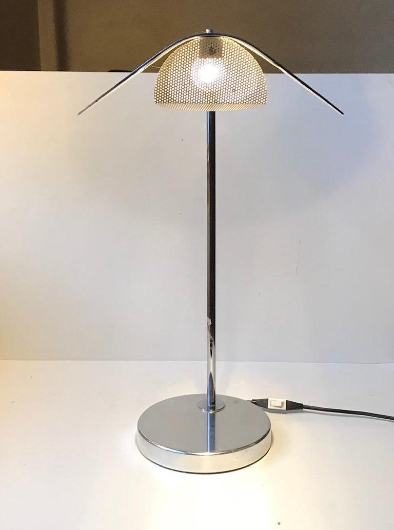 Swedish Scandinavian Minimalist Table Lamp by Bergboms, Sweden, 1980s For Sale