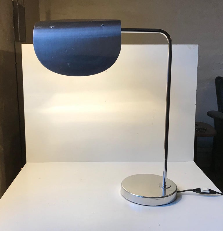 Late 20th Century Scandinavian Minimalist Table Lamp by Bergboms, Sweden, 1980s For Sale