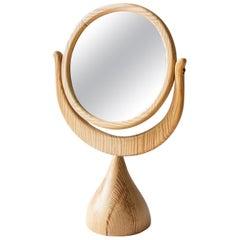 Scandinavian Moder Erik Hoglund 'Höglund' Table Mirror in Solid Pine