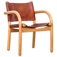 Scandinavian Modern 1970s Safari Chair 411 by Ben af Schultén for Artek