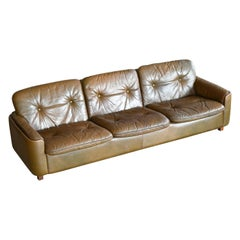Scandinavian Modern 3-Seat Sofa in Buffalo Leather by Sigurd Ressell for Vatne