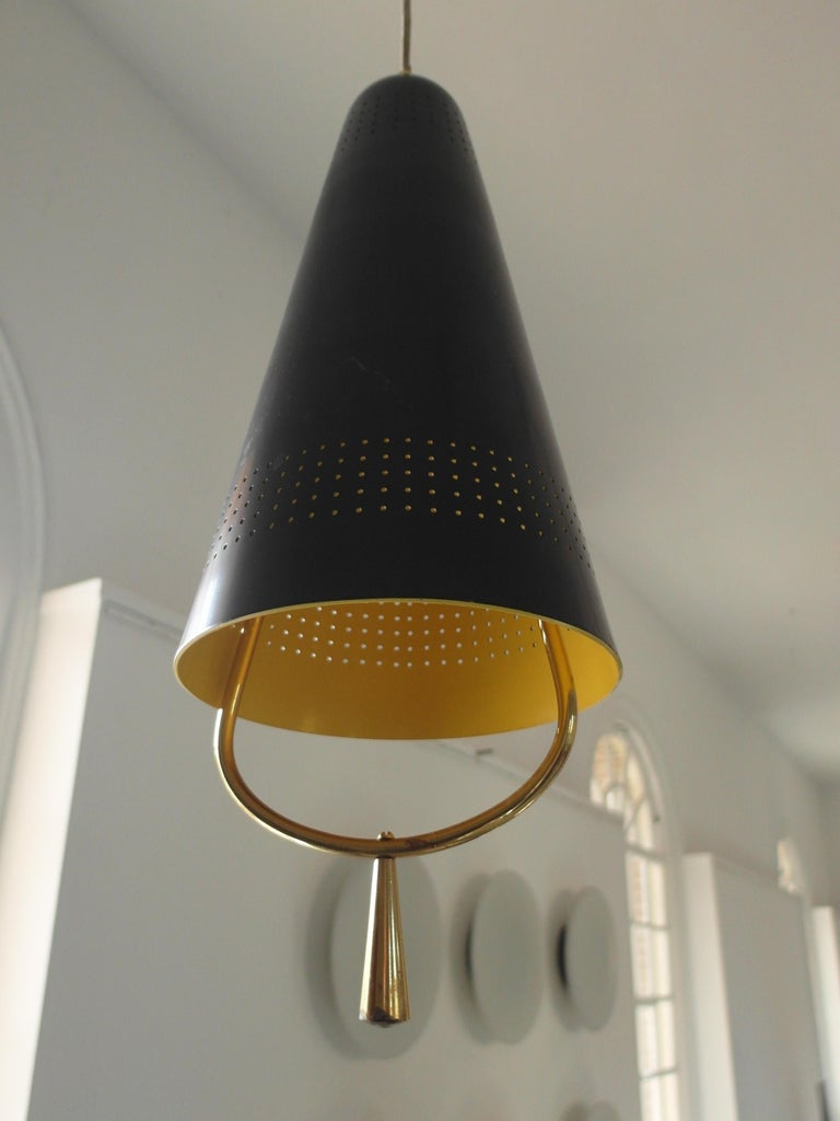 Scandinavian Modern Adjustable Pendel Pendant Light, Finland, 1950s For Sale 3